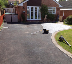 Tarmac Cleaning and Restoration Before
